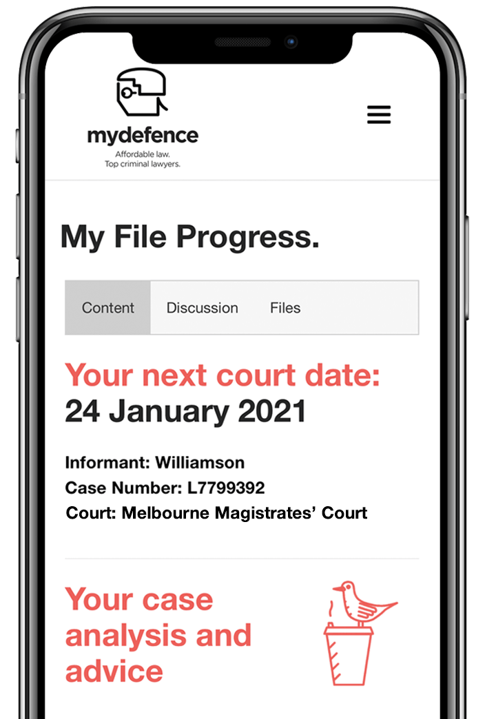 My file progress image of you MyDefence account